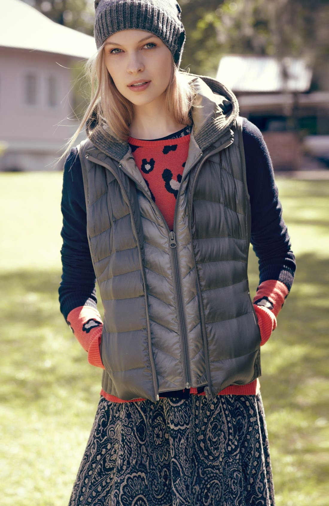 Alternate Image 4  - Bernardo Hooded Insert Goose Down Vest (Regular & Petite)