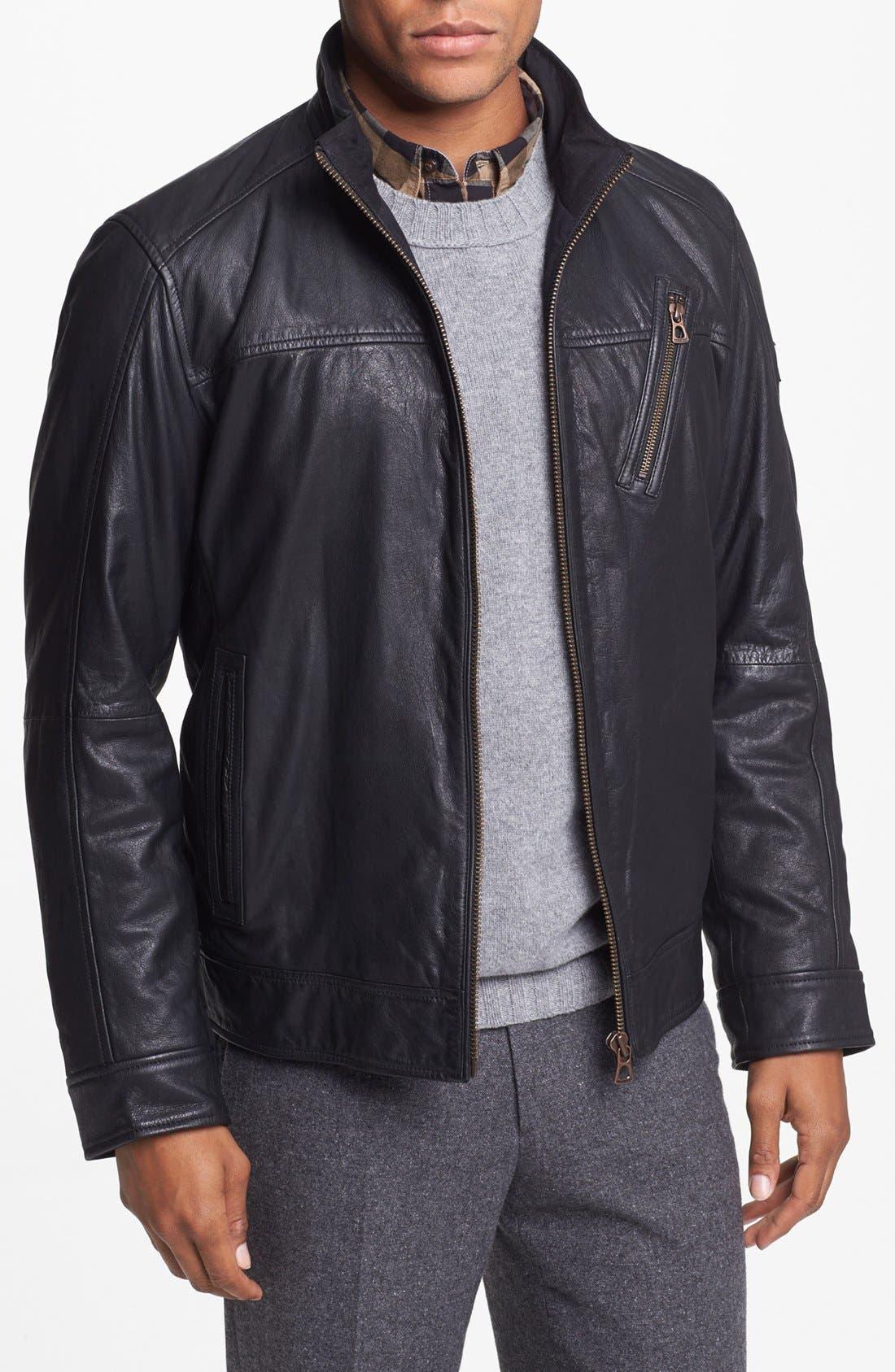 Main Image - BOSS Orange 'Jips2' Leather Jacket