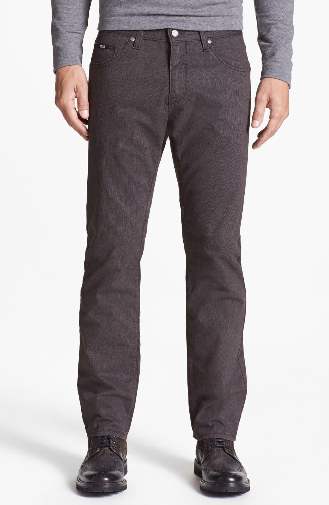 Alternate Image 1 Selected - BOSS HUGO BOSS 'Maine' Straight Leg Pants