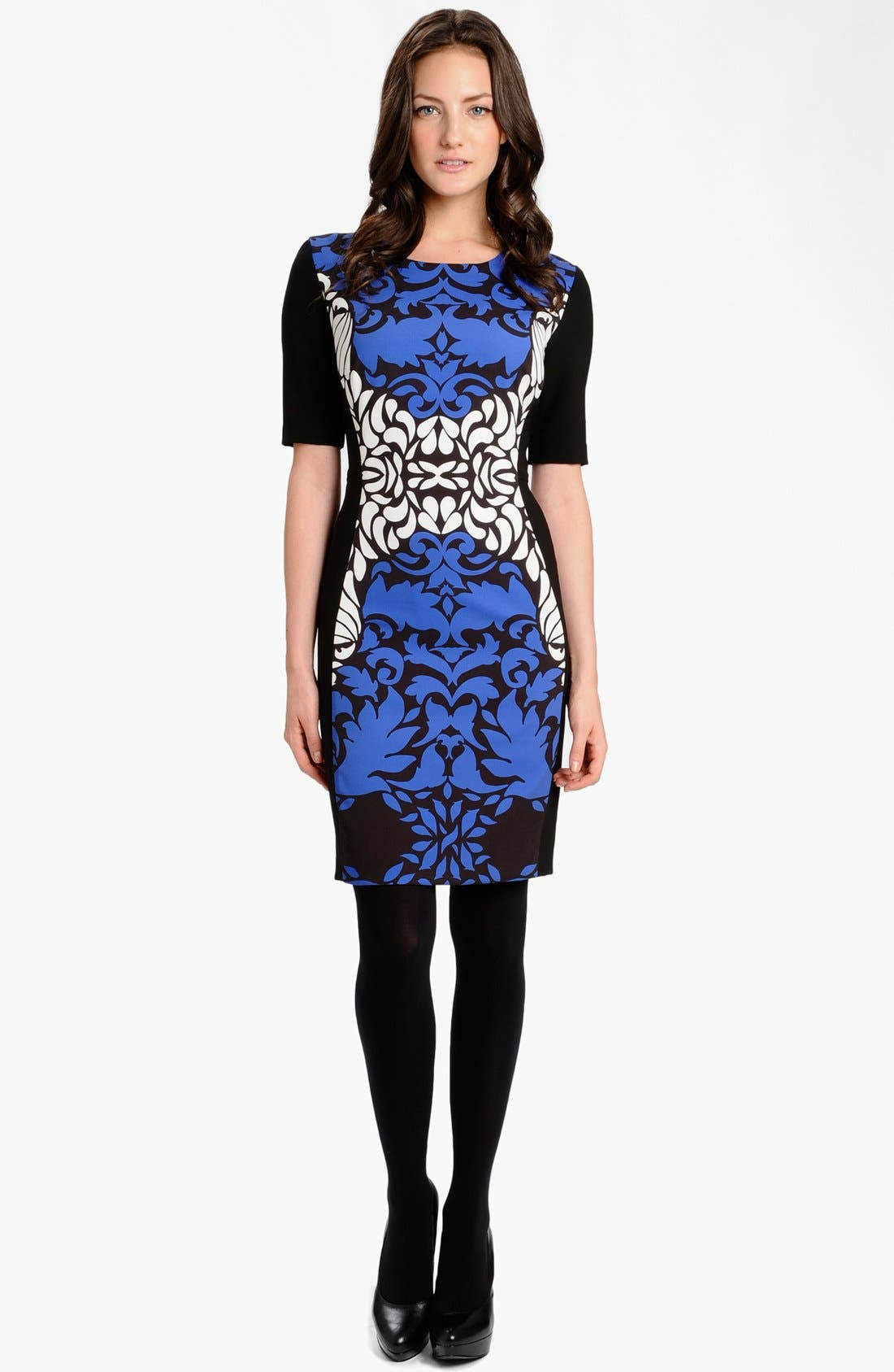 Alternate Image 3  - LABEL by five twelve Print Ponte Knit Sheath Dress
