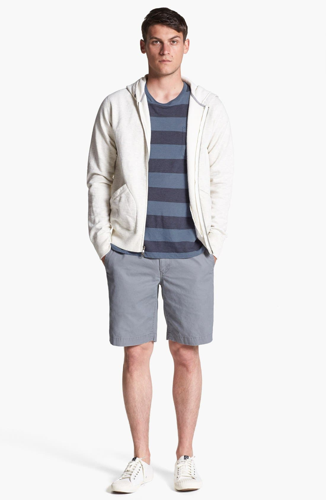 Alternate Image 2  - Todd Snyder + Champion Hoodie, French Connection T-Shirt & BOSS HUGO BOSS Shorts