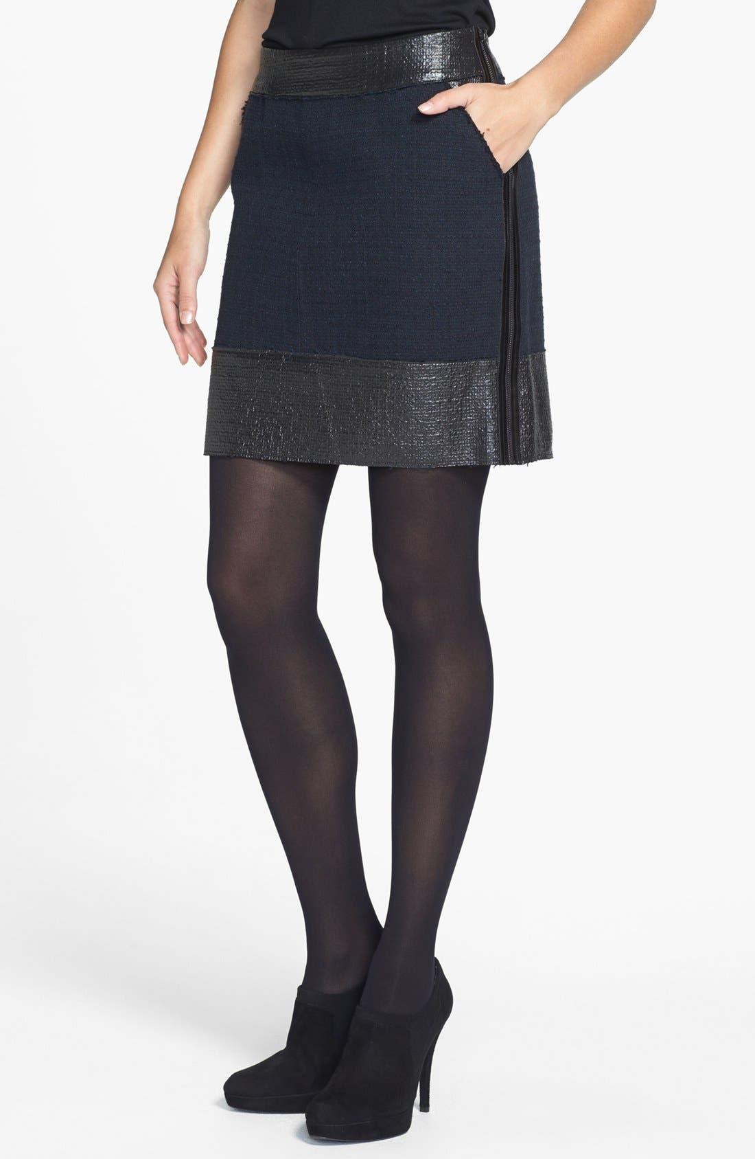 Main Image - Rachel Roy Raw Edge Tweed Miniskirt
