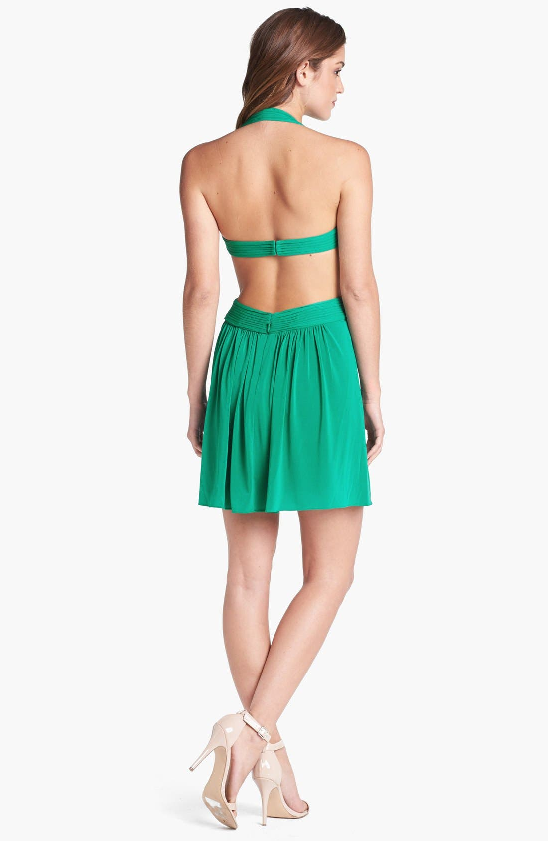 Alternate Image 2  - BCBGMAXAZRIA 'Shea' Cutout Halter Fit & Flare Dress