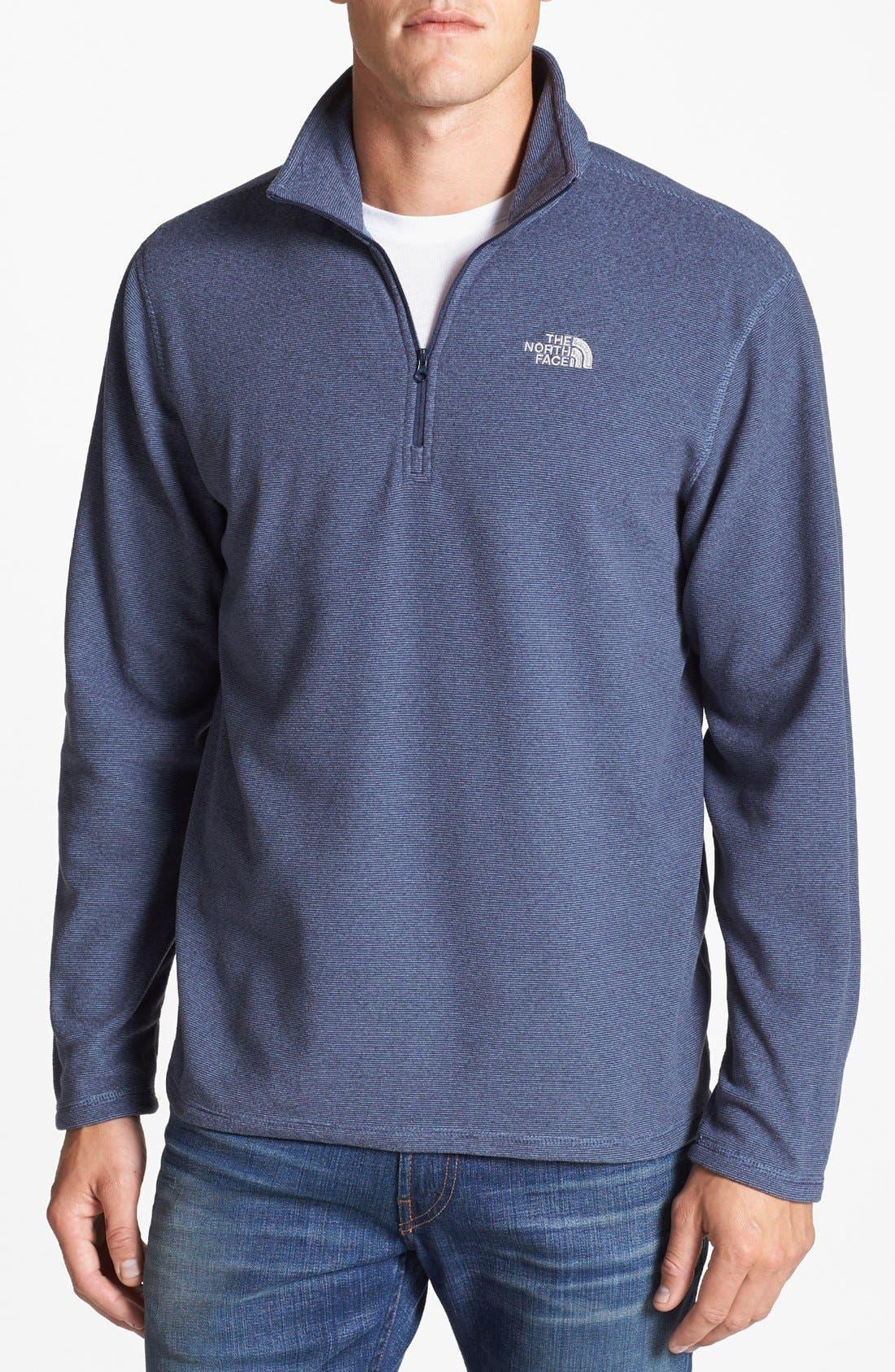 Main Image - The North Face 'TKA 100 Glacier' Polartec® Fine Stripe Fleece Pullover