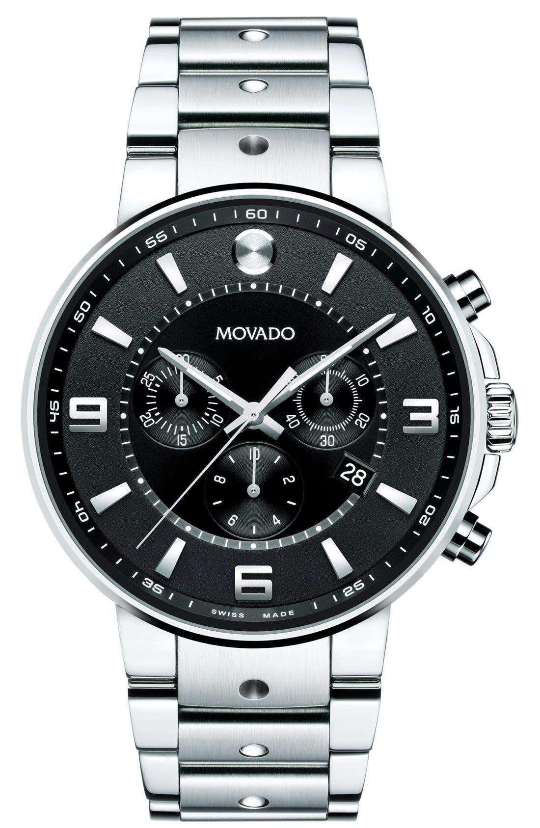 MOVADO S.E. Pilot Chronograph Bracelet Watch, 42mm