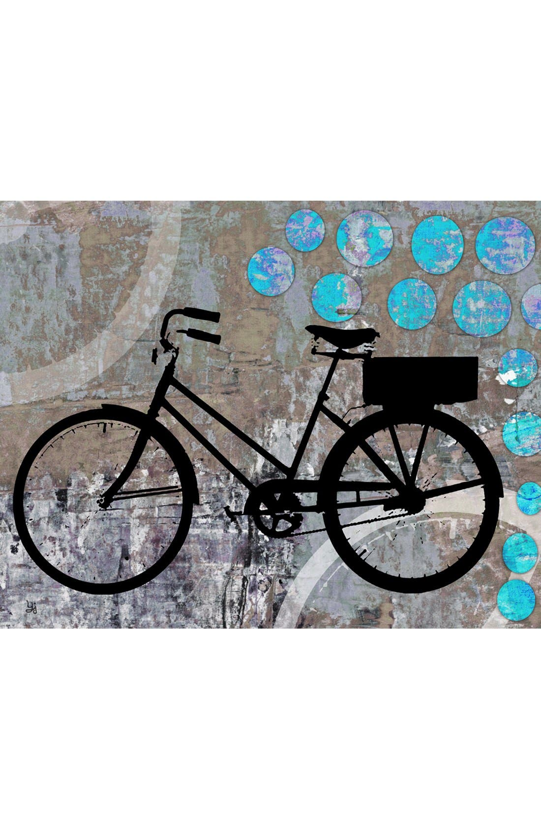 Alternate Image 1 Selected - Green Leaf Art 'School Bicycle' Wall Art