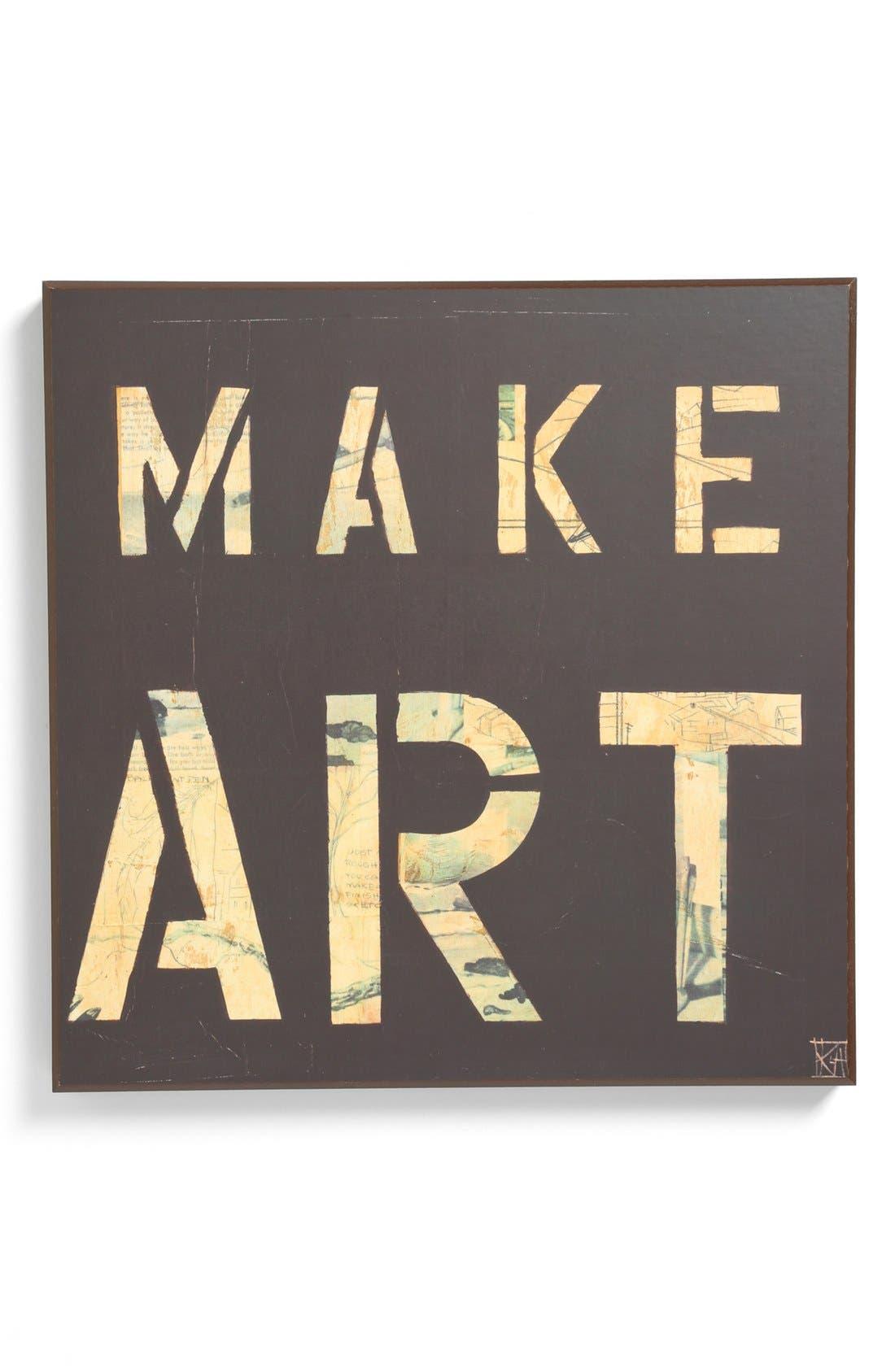 Alternate Image 1 Selected - Third and Wall Art 'Make Art' Sign