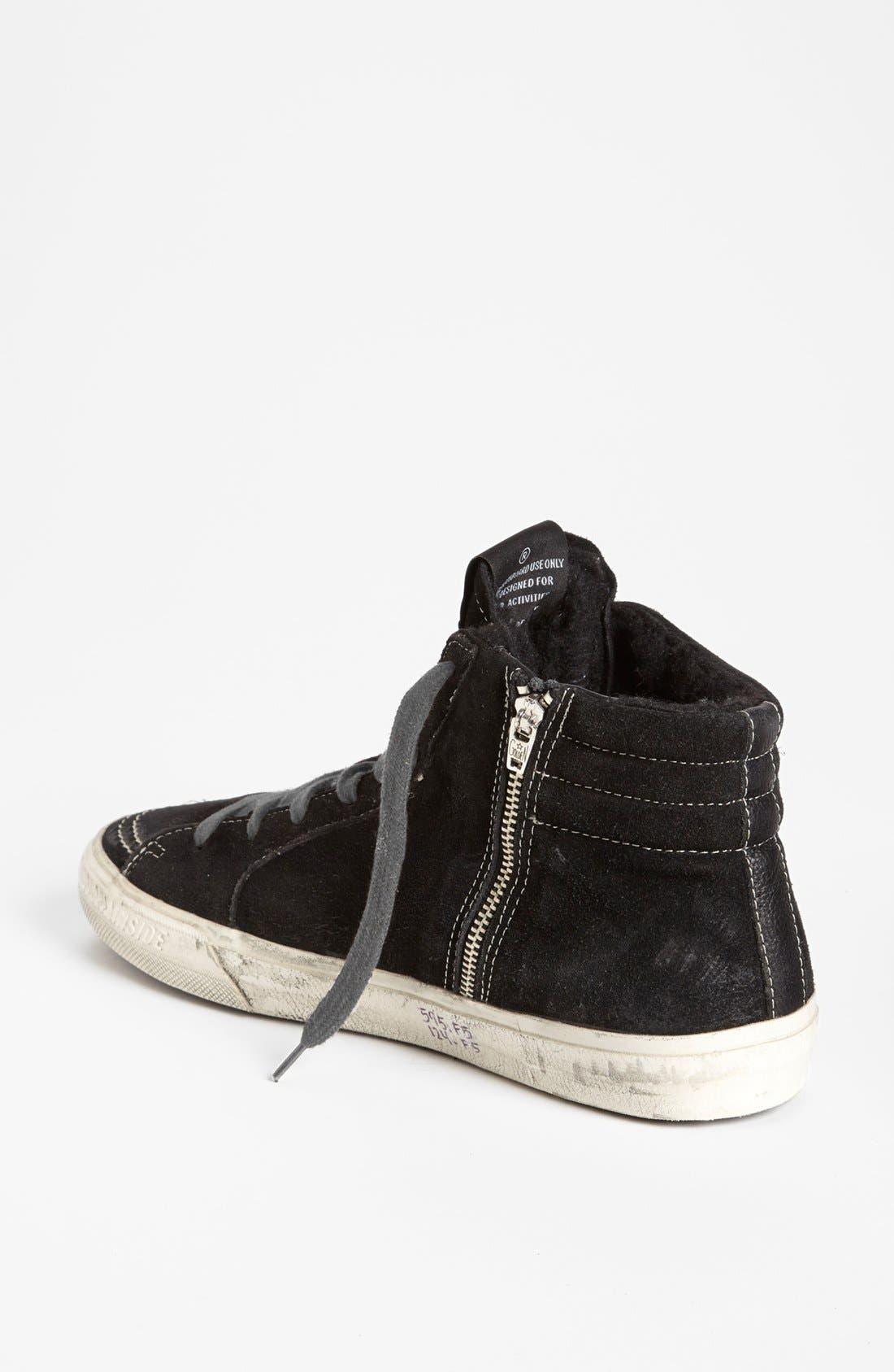 'Mid Top Slide' Sneaker,                             Alternate thumbnail 2, color,                             Black