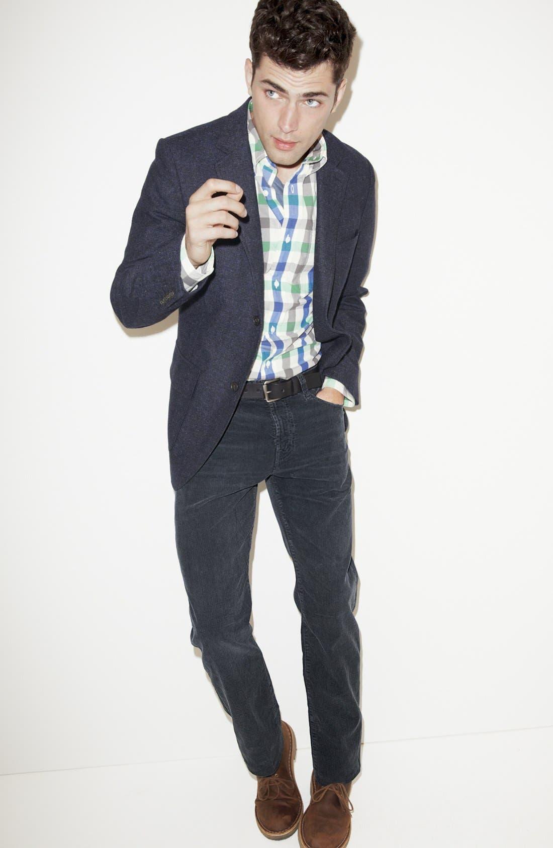Main Image - Jack Spade Blazer, Sport Shirt, Save Khaki Crewneck T-Shirt & AG Jeans Straight Leg Pants