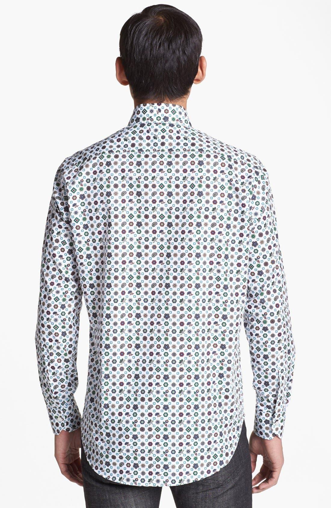 Alternate Image 2  - Etro Geometric Medallion Print Cotton Shirt