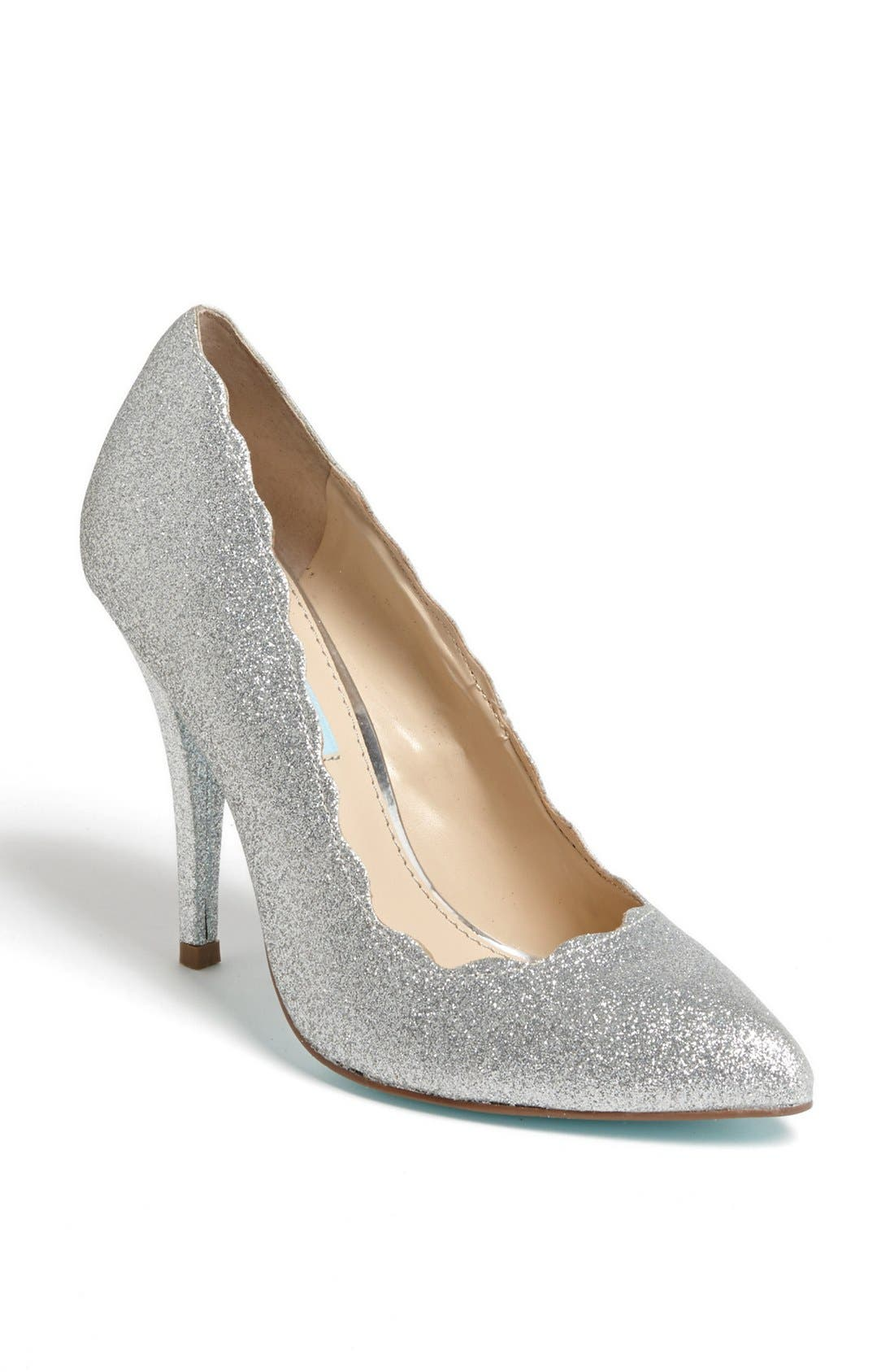 Alternate Image 1 Selected - Blue by Betsey Johnson 'Altar' Pump