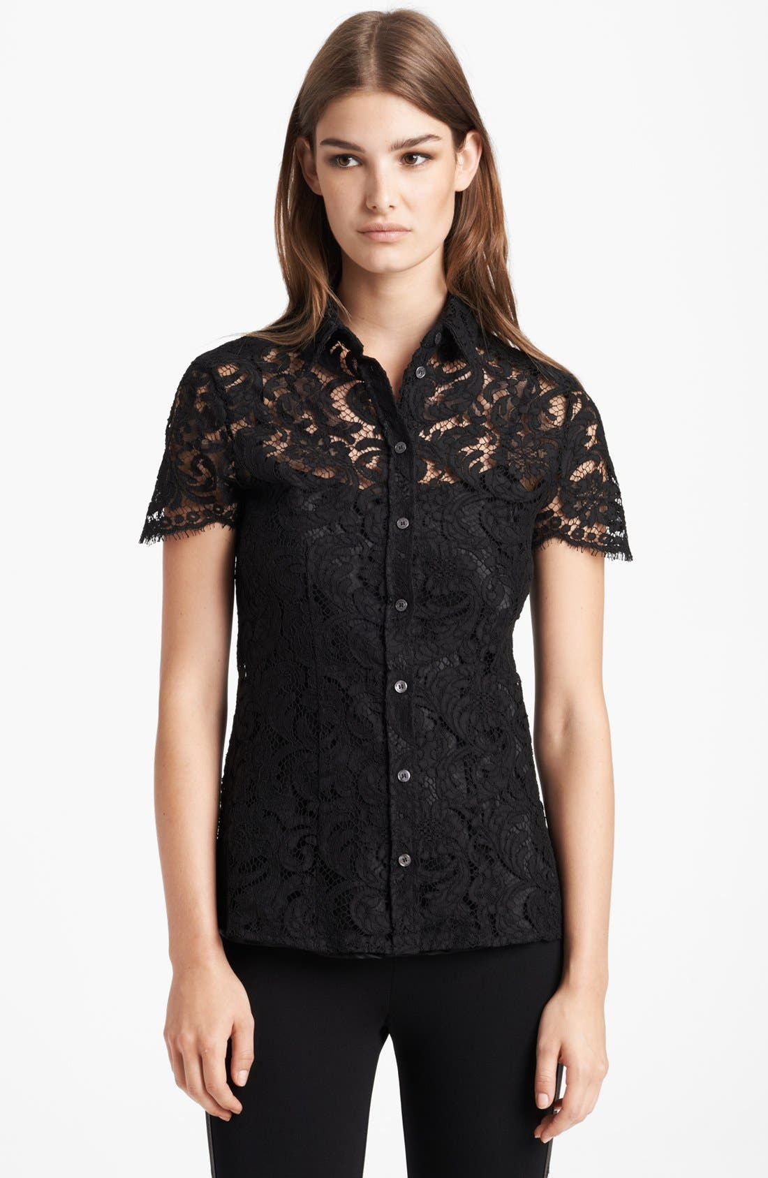 Alternate Image 1 Selected - Burberry London Lace Blouse