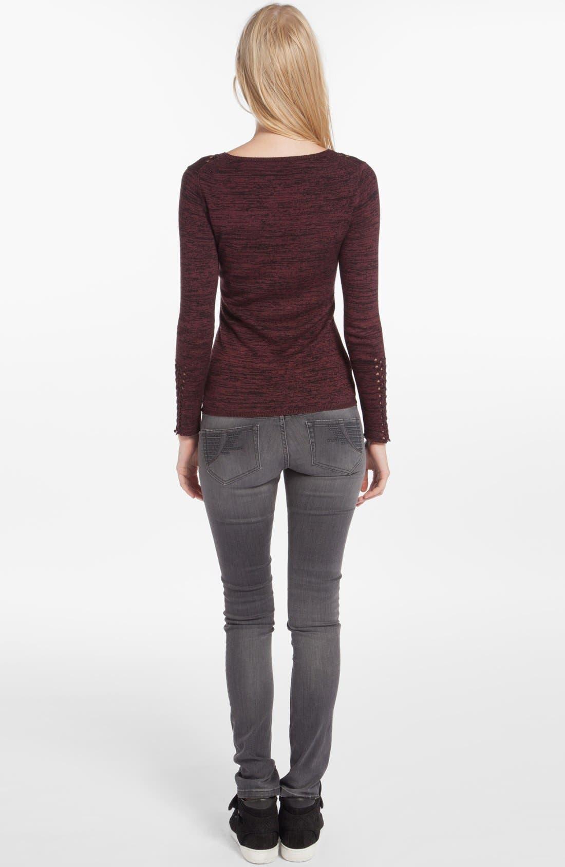Alternate Image 2  - maje 'Dramaturg' Perforated Sweater