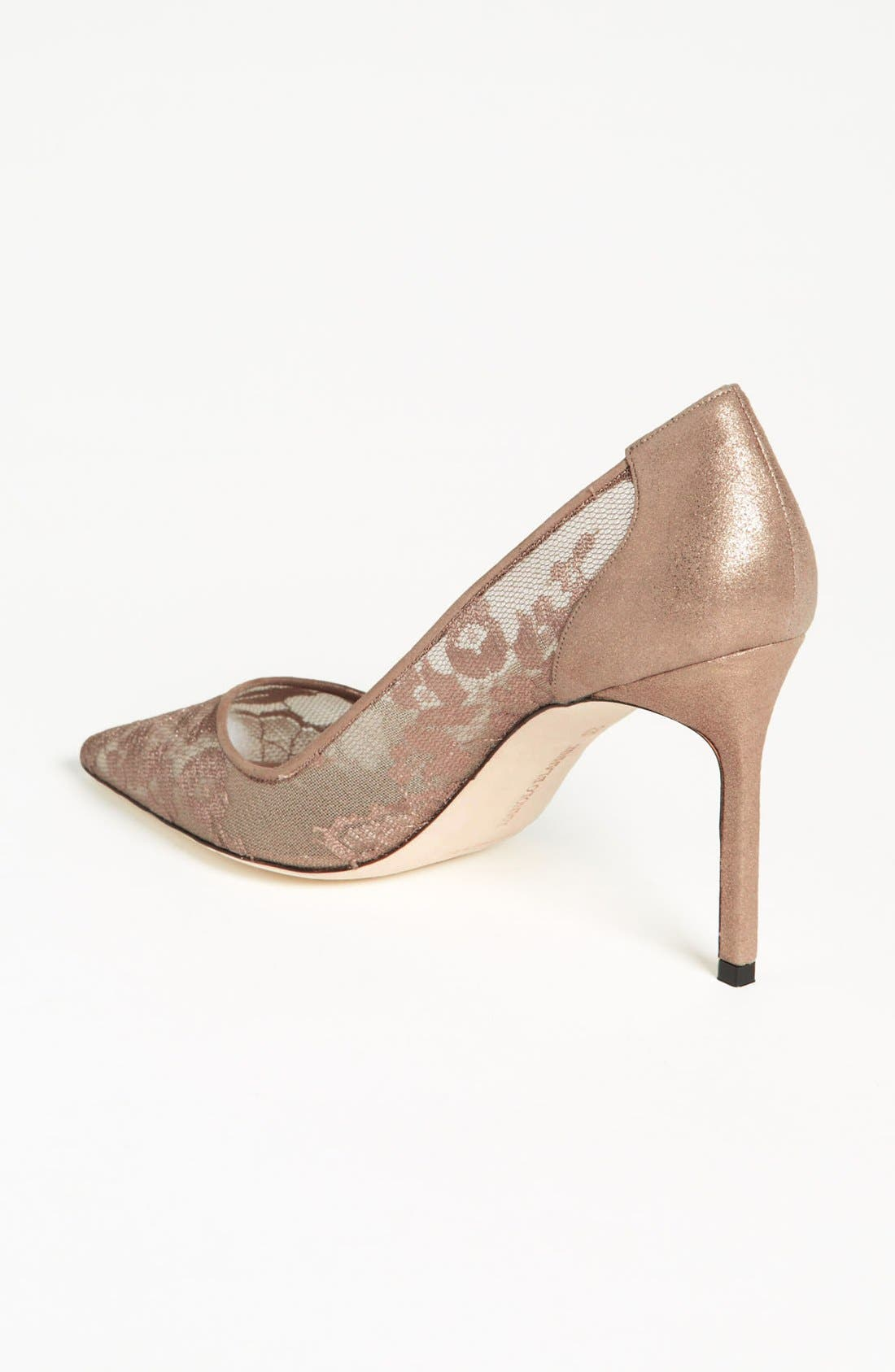 Alternate Image 2  - Manolo Blahnik Lace Pump