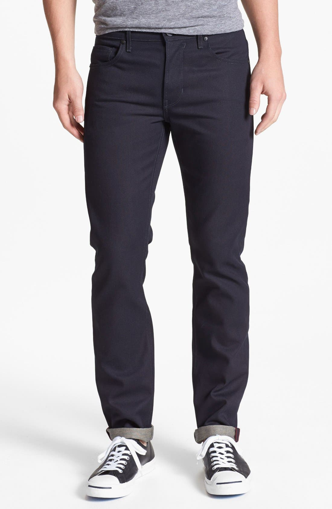 Alternate Image 2  - PAIGE 'Federal' Skinny Fit Selvedge Jeans (Eco Raw)
