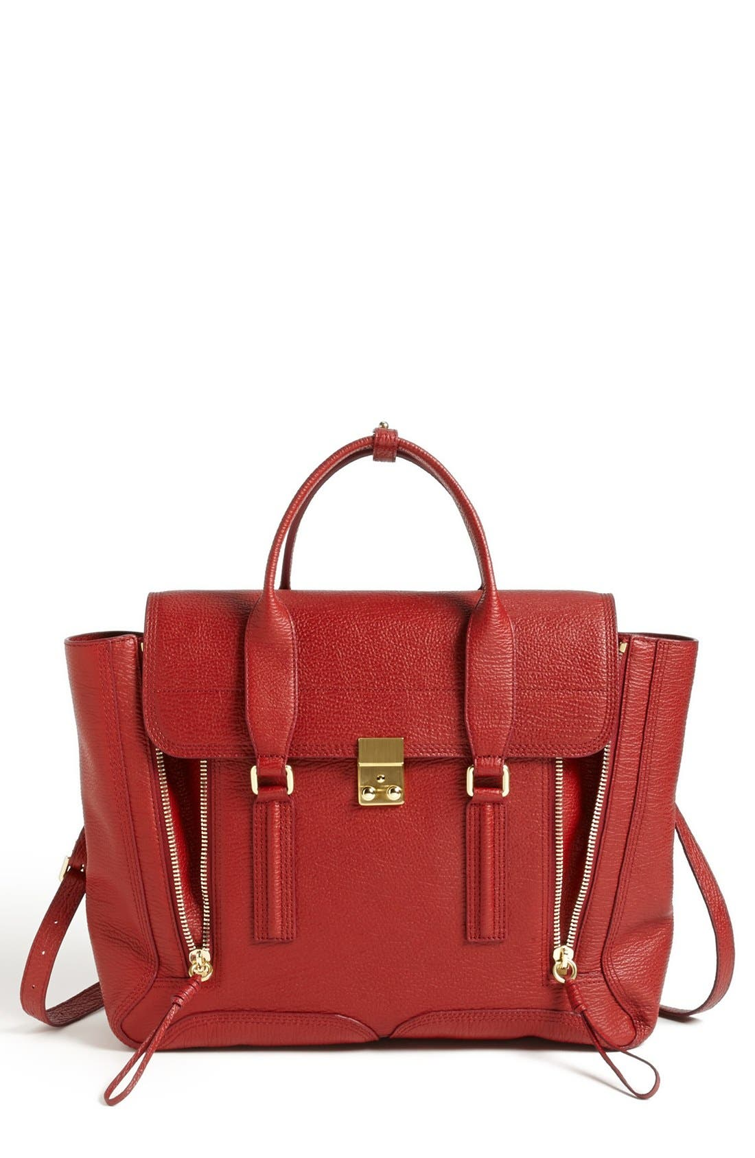Alternate Image 1 Selected - 3.1 Phillip Lim 'Pashli' Shark Embossed Leather Satchel