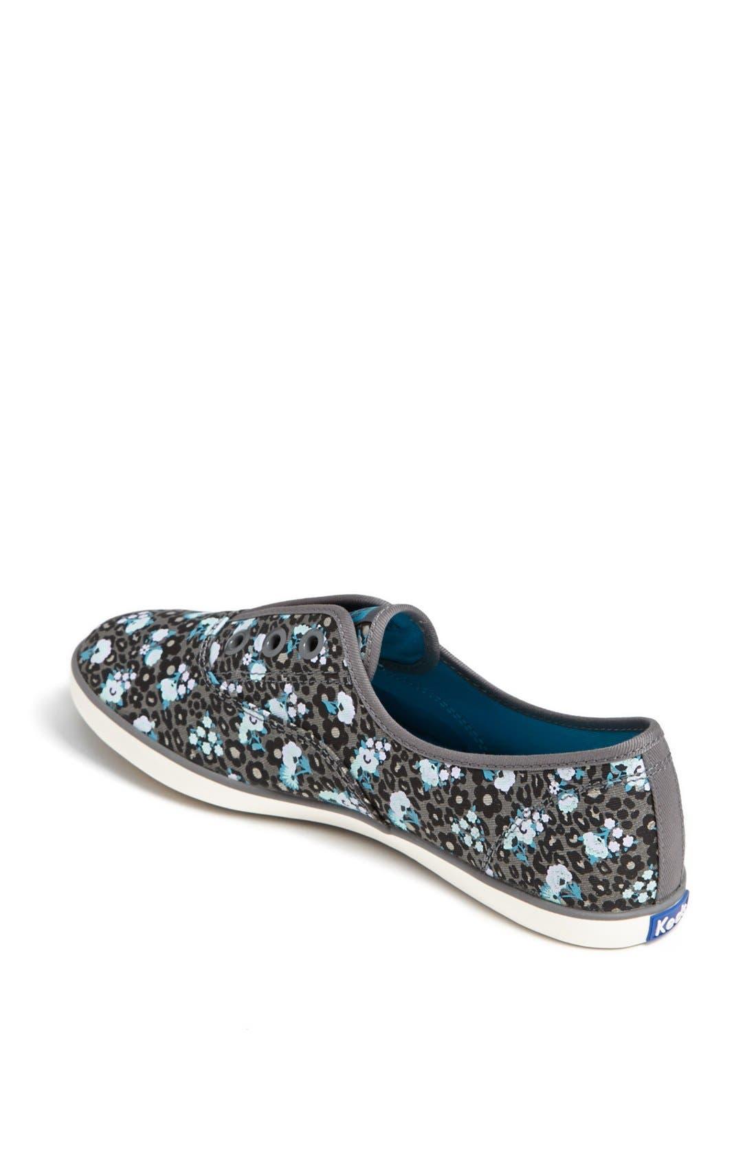 Alternate Image 2  - Keds® 'Rookie - Leopard Floral' Laceless Sneaker (Women)