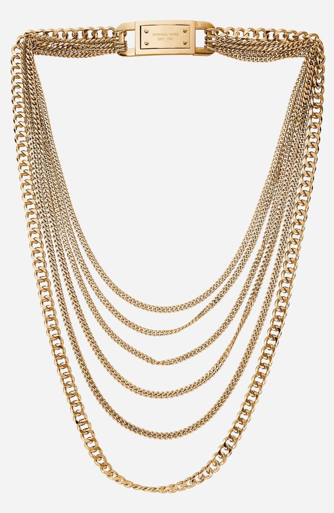 Alternate Image 1 Selected - Michael Kors Multistrand Link Necklace