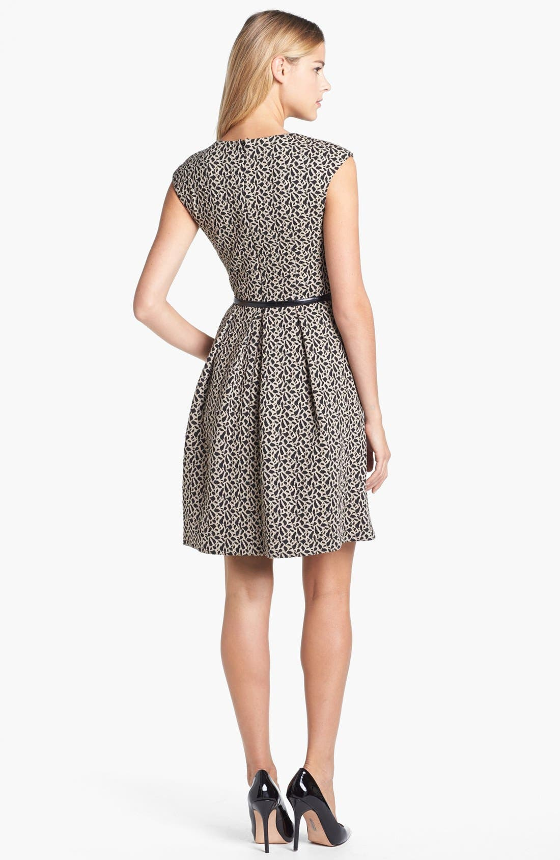 Alternate Image 2  - Maggy London Jacquard Fit & Flare Dress