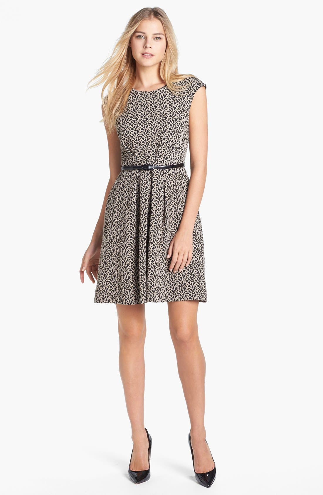 Main Image - Maggy London Jacquard Fit & Flare Dress