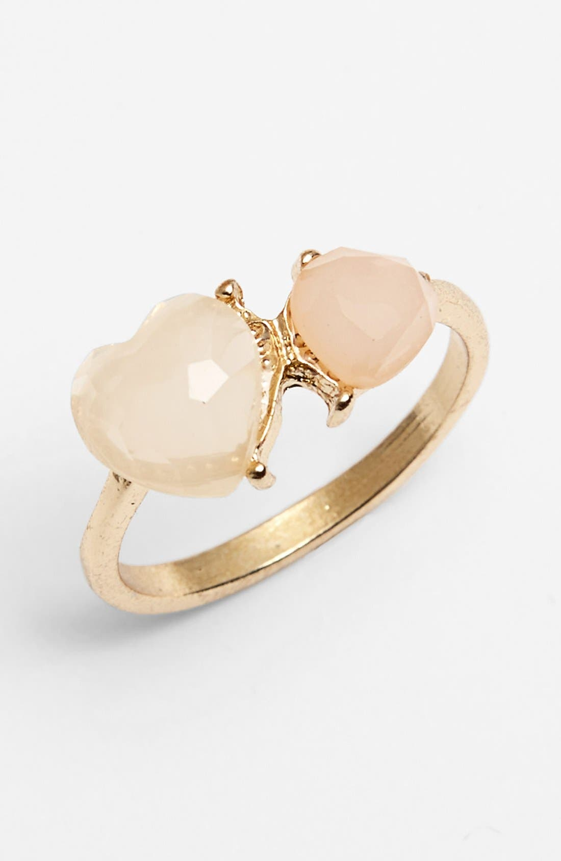 Alternate Image 1 Selected - Statements by DCK Double Heart Stone Ring (Juniors) (Online Only)