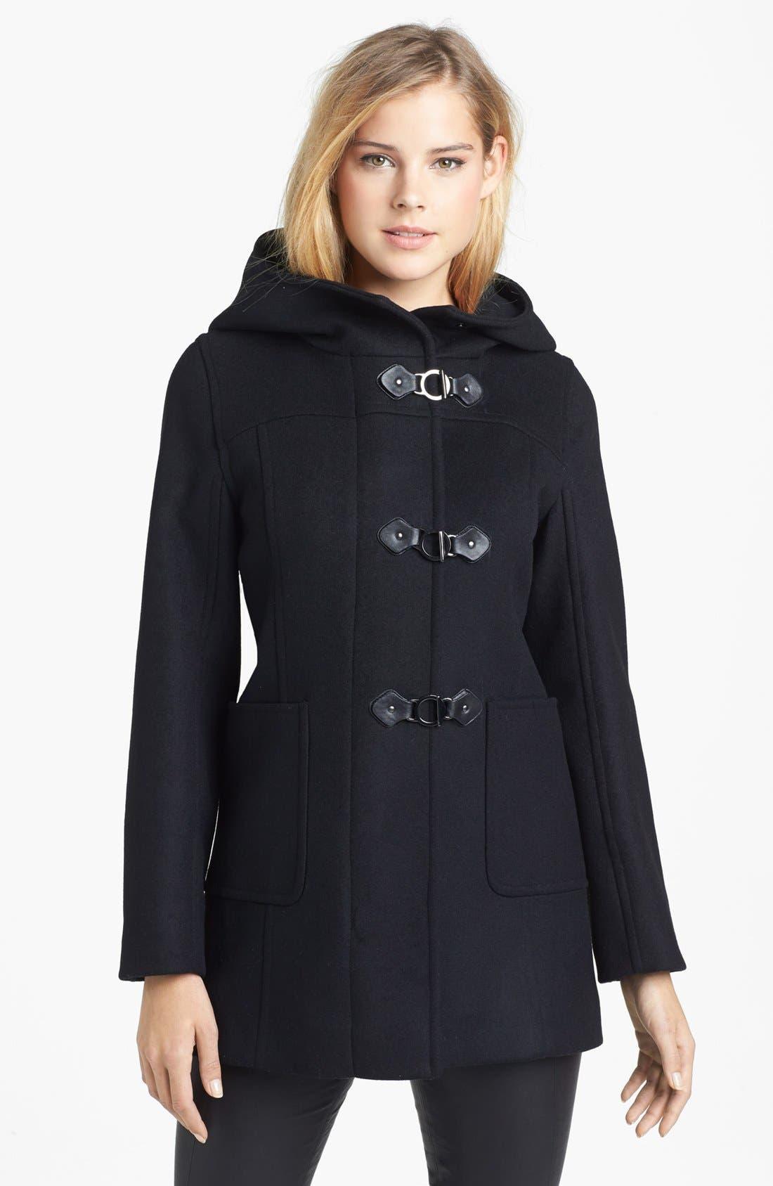 Main Image - Kristen Blake Hooded Wool Blend Duffle Coat (Nordstrom Exclusive)