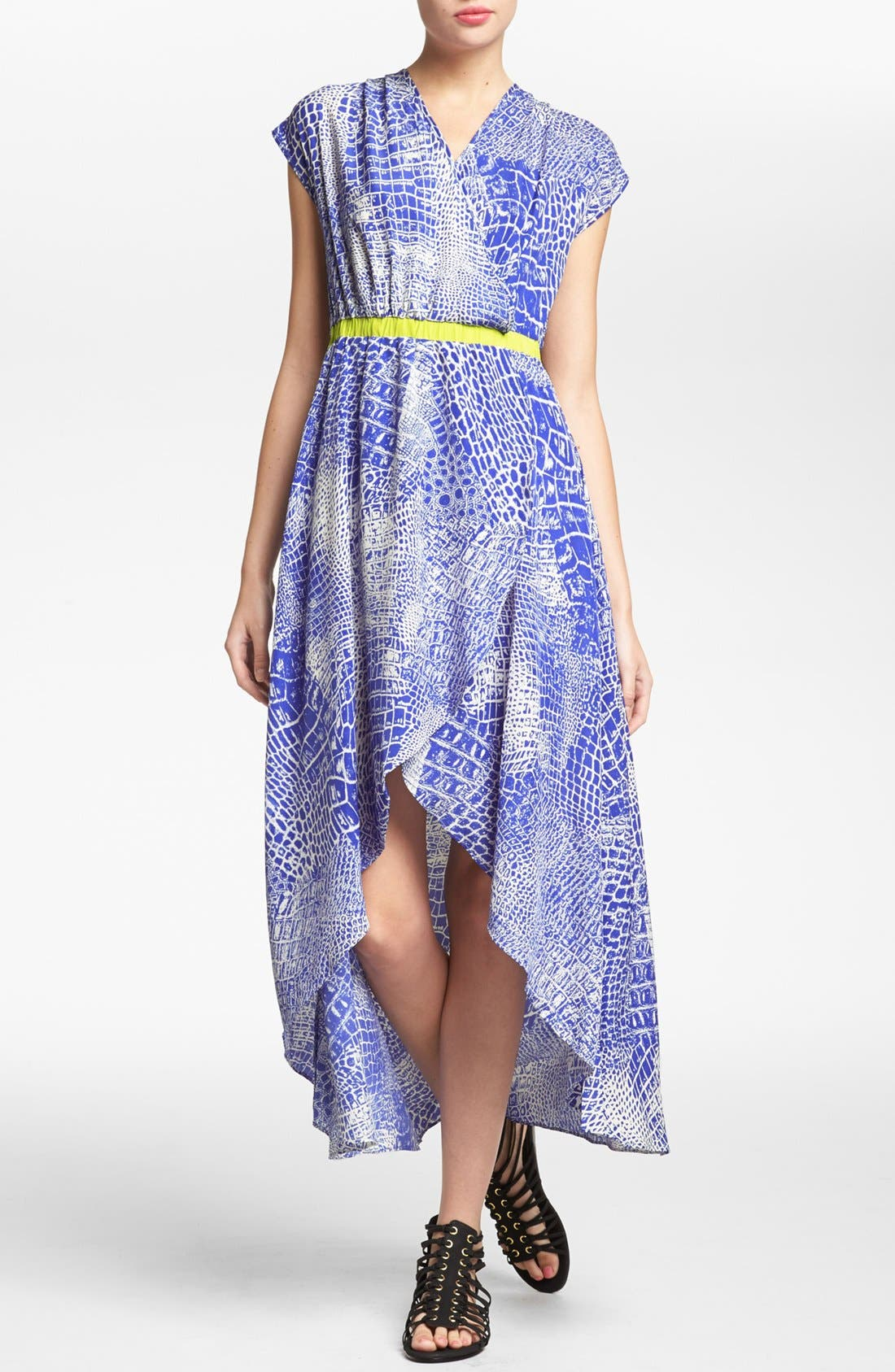 Alternate Image 1 Selected - MM Couture Print High/Low Dress