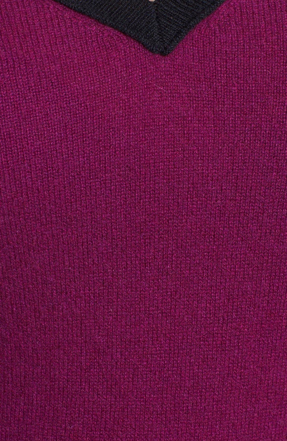 Alternate Image 3  - Halogen® Colorblock Cashmere Sweater (Plus Size)