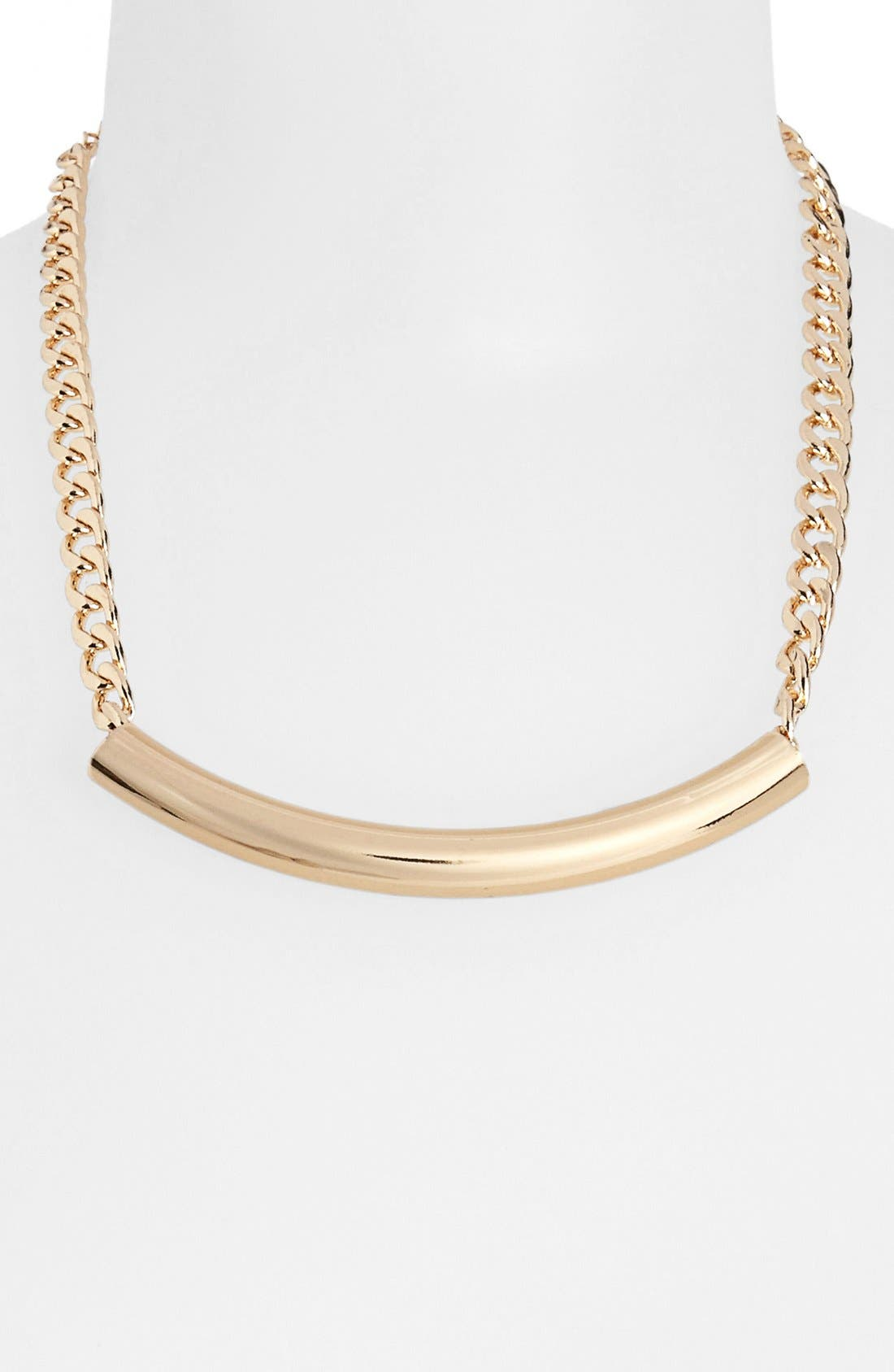 Main Image - Topshop Removable Tube Chain Necklace