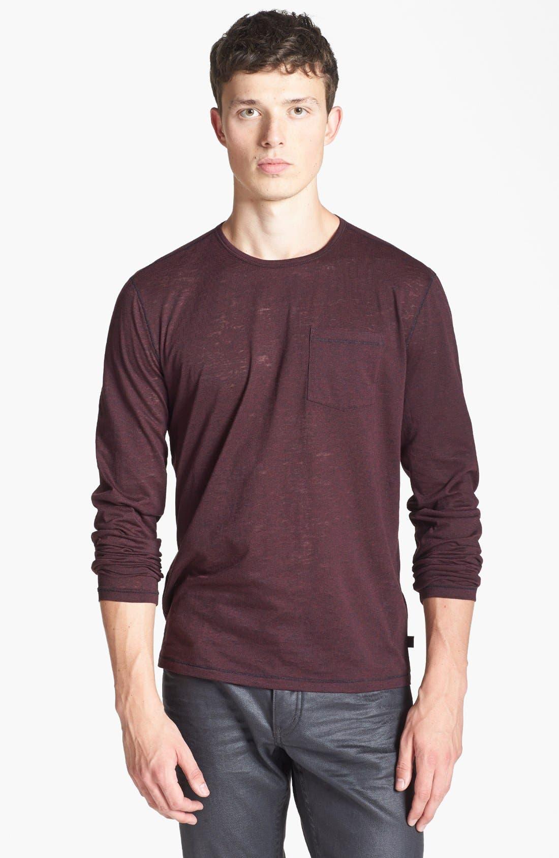 Main Image - John Varvatos Star USA Burnout Crewneck T-Shirt