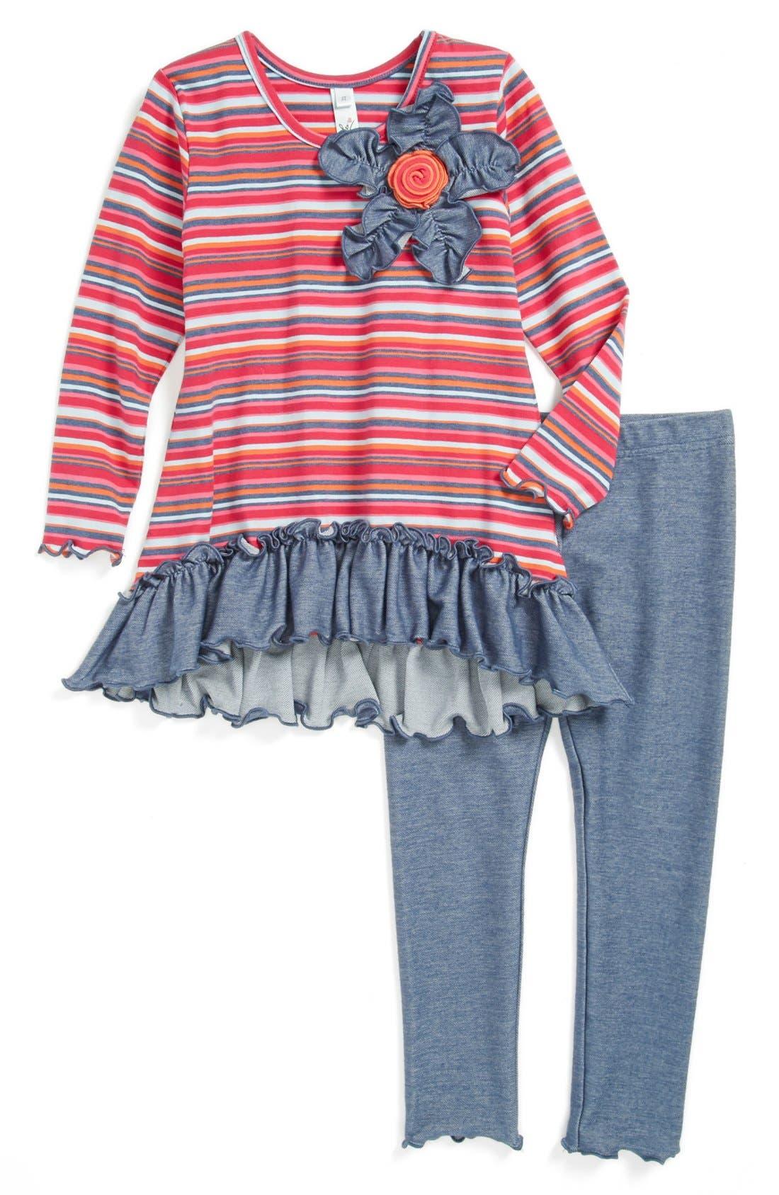 Alternate Image 1 Selected - Love U Lots Tunic & Leggings (Toddler Girls)