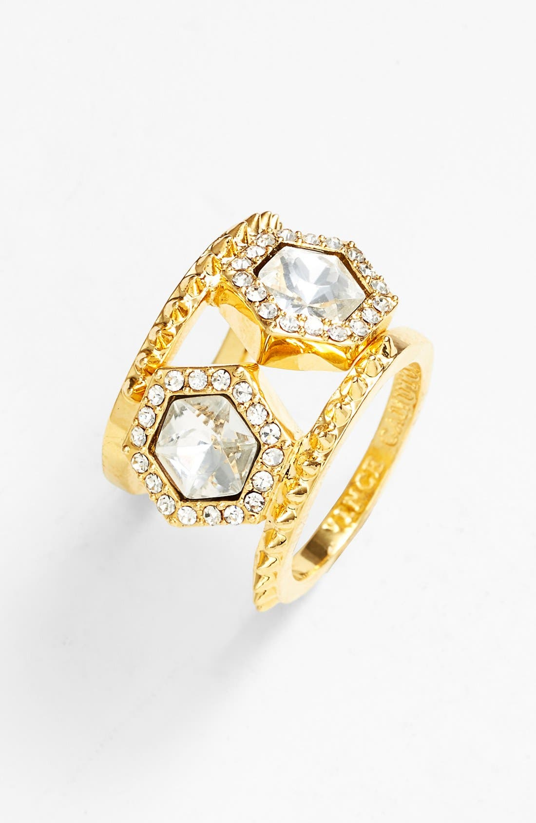 Main Image - Vince Camuto 'Diamonds in the Sky' Stackable Rings (Set of 2)