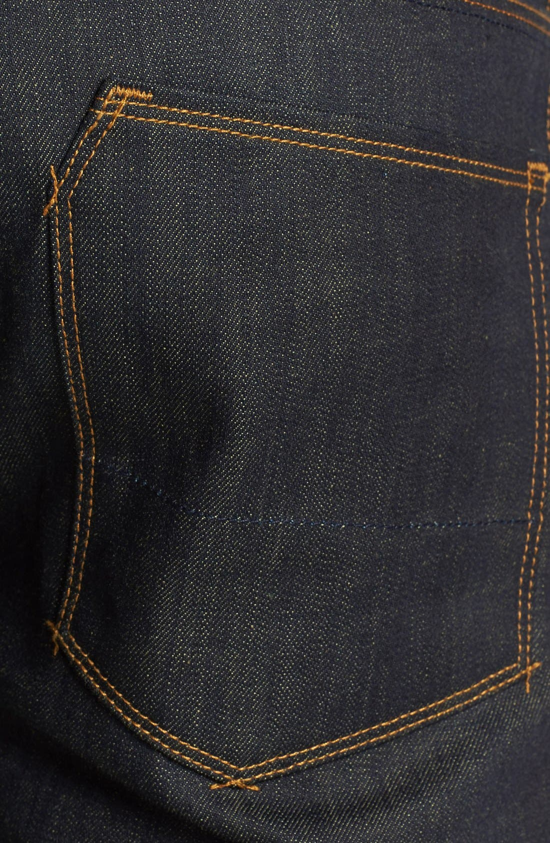 Alternate Image 4  - Raleigh Denim 'Jones' Slim Fit Raw Selvedge Jeans (Original Selvage)
