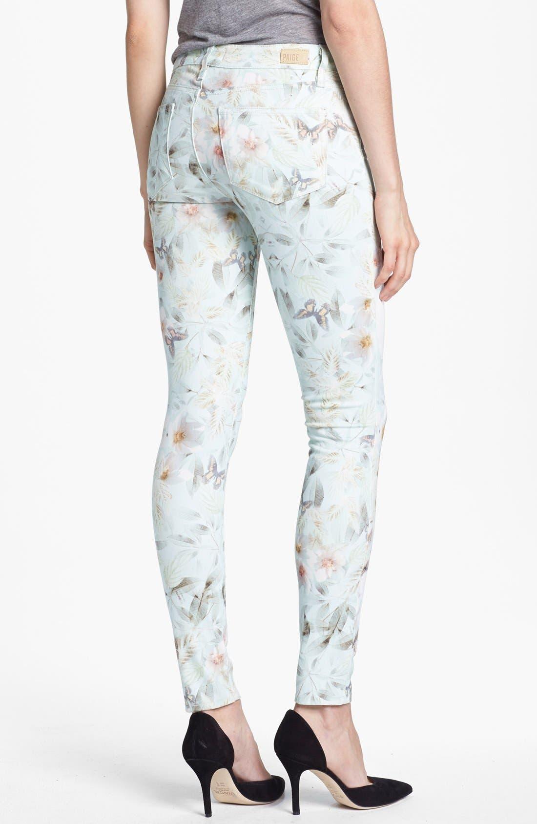 Alternate Image 2  - Paige Denim 'Verdugo' Print Ultra Skinny Jeans (Grey Wind)