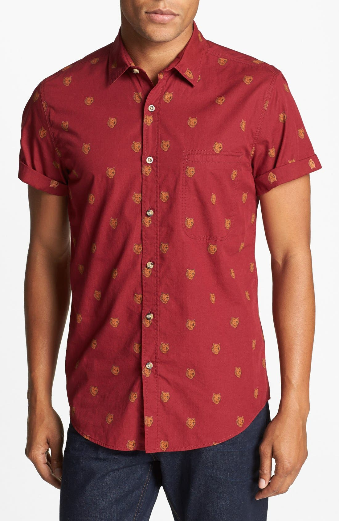 Alternate Image 1 Selected - Topman 'Bears - High Roller' Shirt