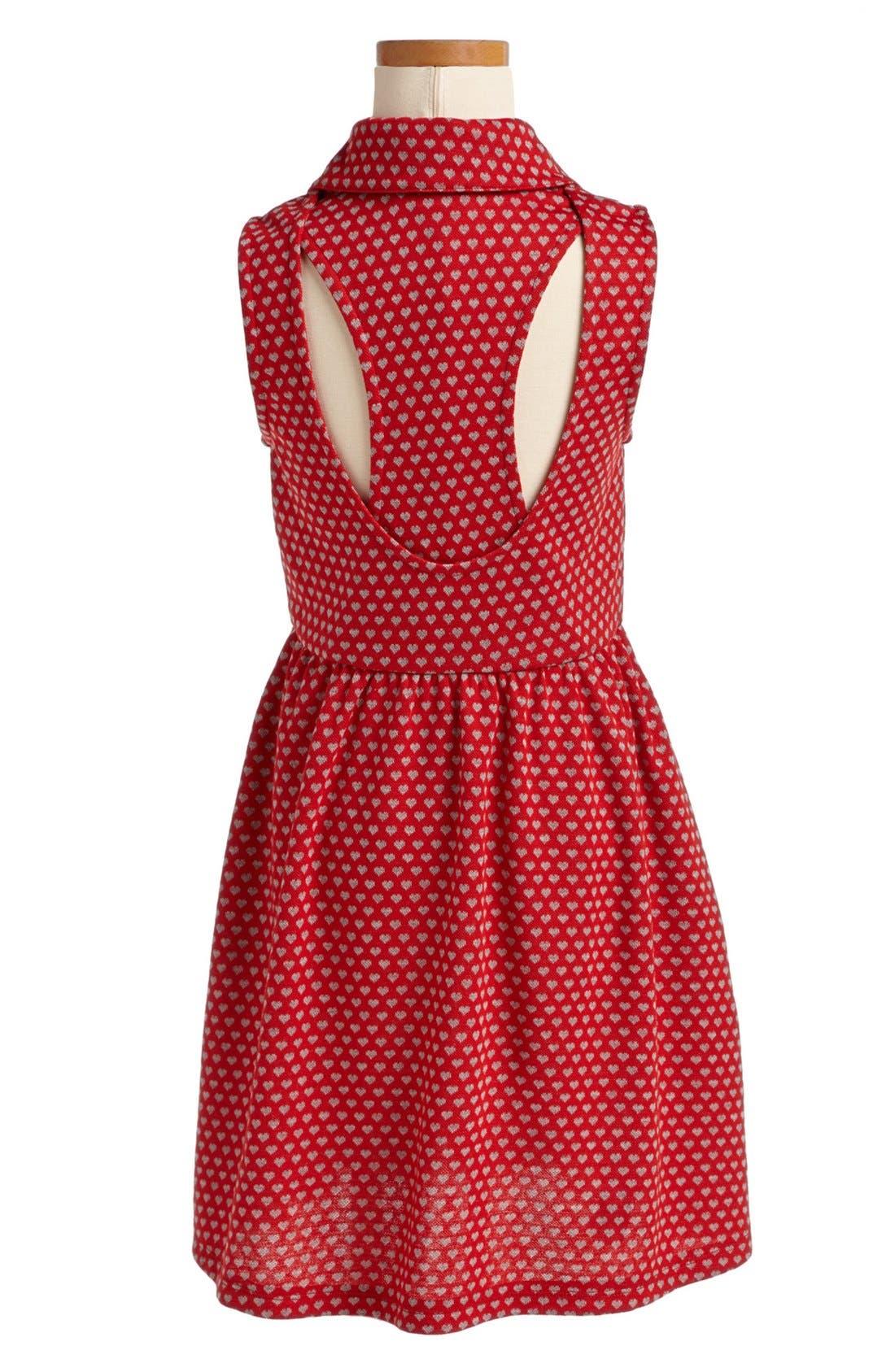 Alternate Image 2  - Mia Chica 'Heart' Dress (Big Girls)