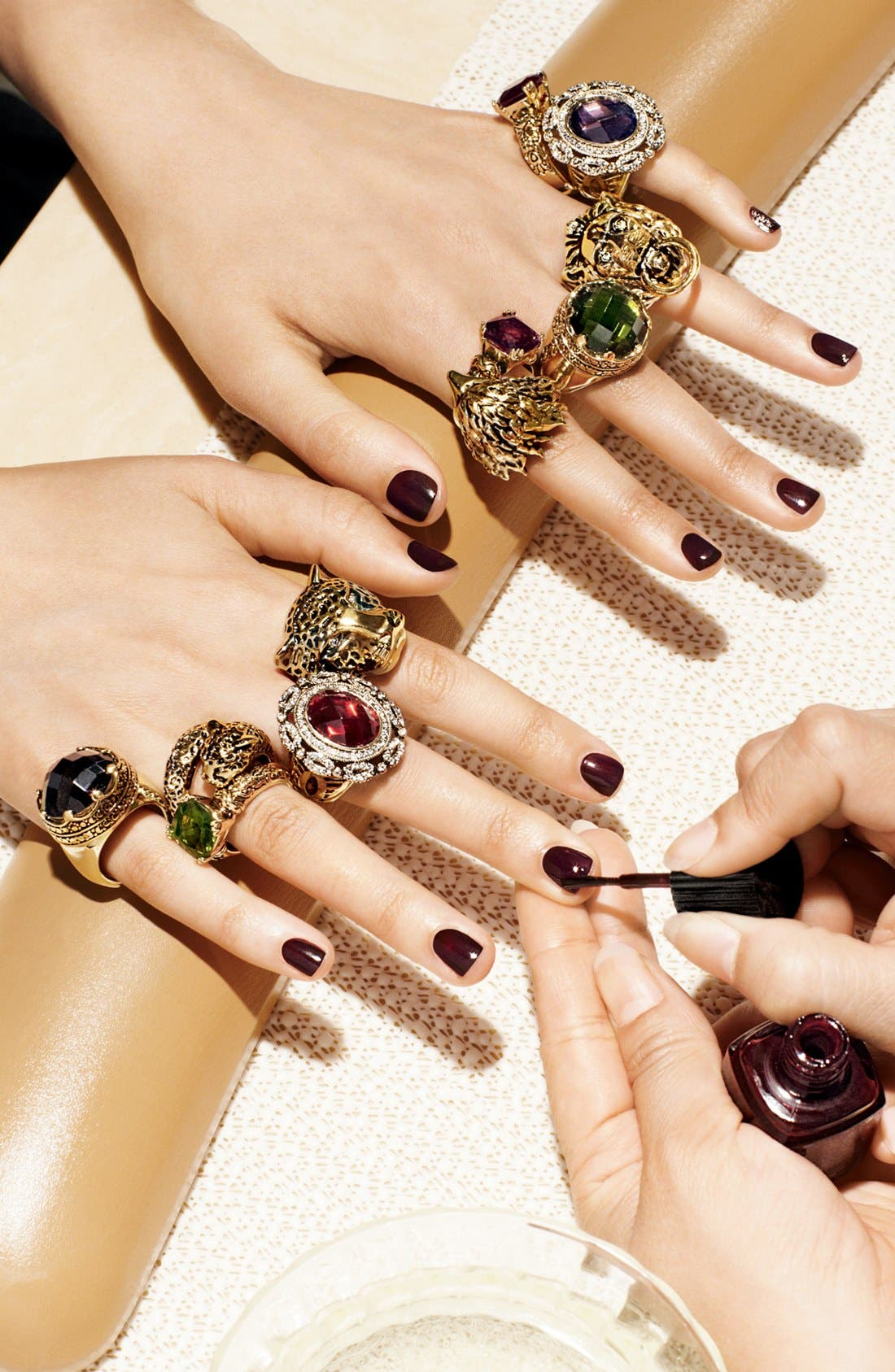 Alternate Image 2  - Ariella Collection 'Baroque' Stone Shield Ring (Nordstrom Exclusive)