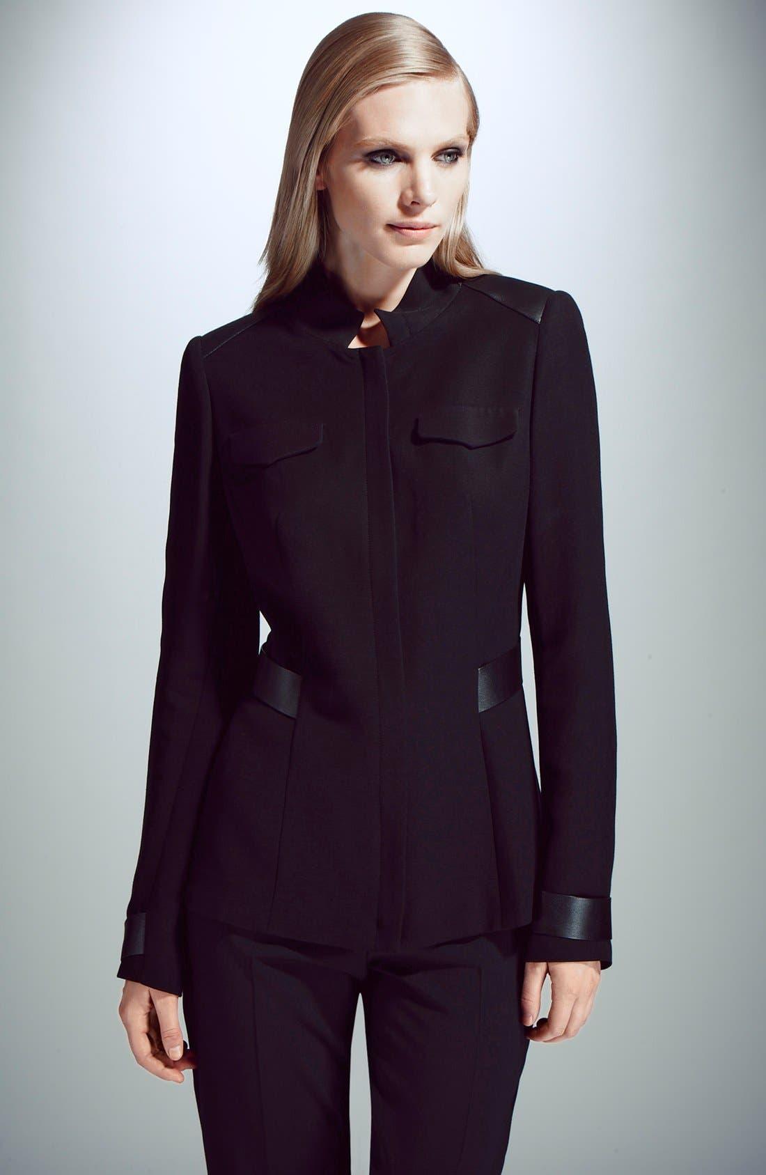 Alternate Image 4  - Lafayette 148 New York 'Wanda' Leather Trim Jacket