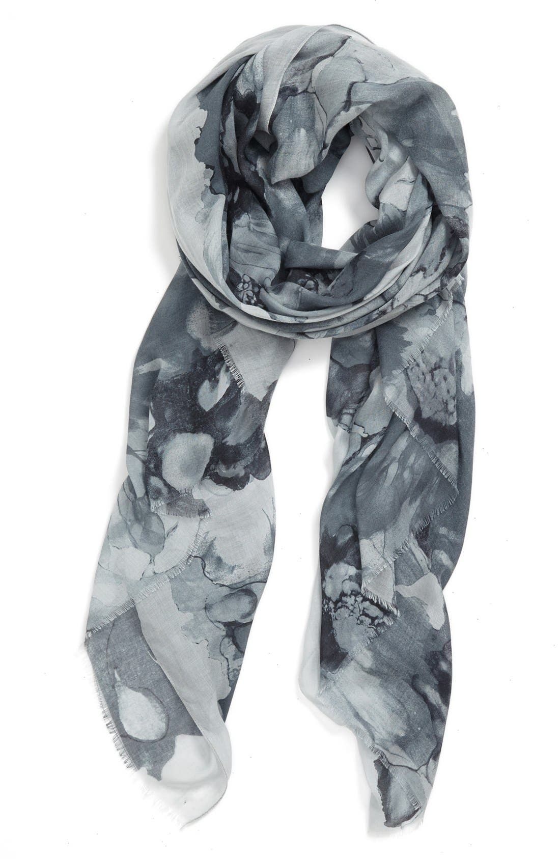 Main Image - Nordstrom 'Giant Floral' Scarf