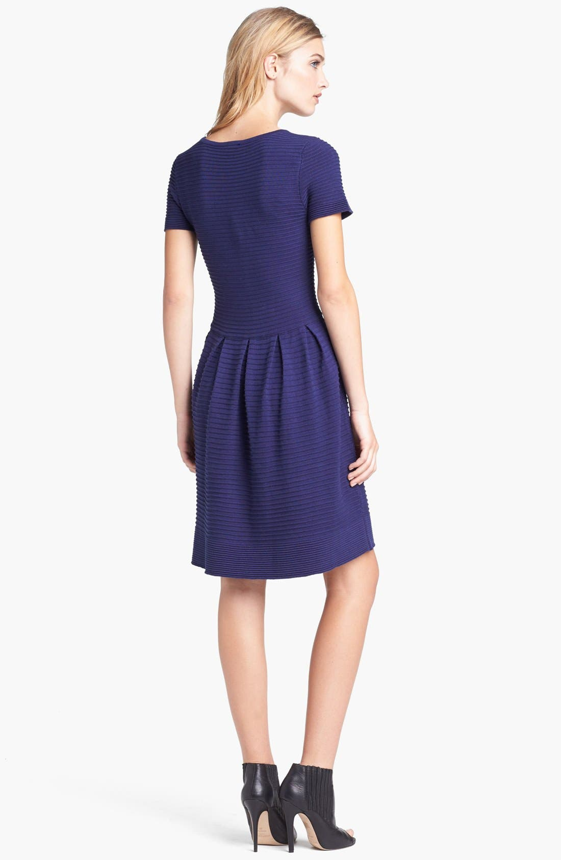 Alternate Image 2  - Taylor Dresses Fit & Flare Sweater Dress (Regular & Petite)