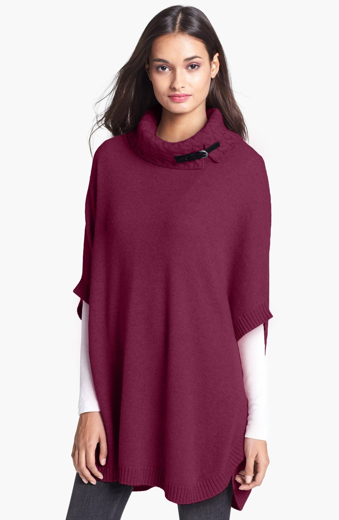 Alternate Image 1 Selected - Nordstrom Cashmere Turtleneck Topper (Special Purchase)