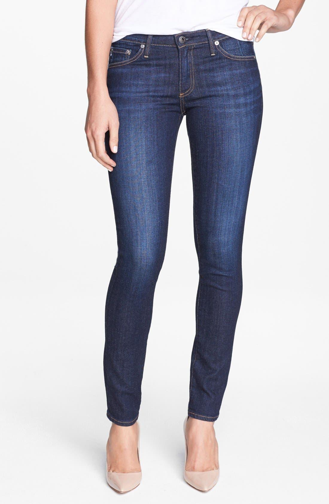 Main Image - AG 'The Stilt' Cigarette Leg Jeans (Free)