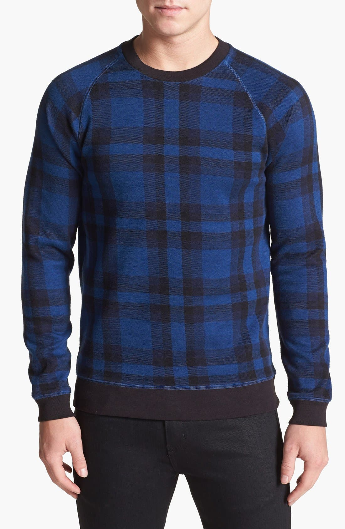 Alternate Image 1 Selected - MARC BY MARC JACOBS 'Sheffield' Plaid Sweatshirt