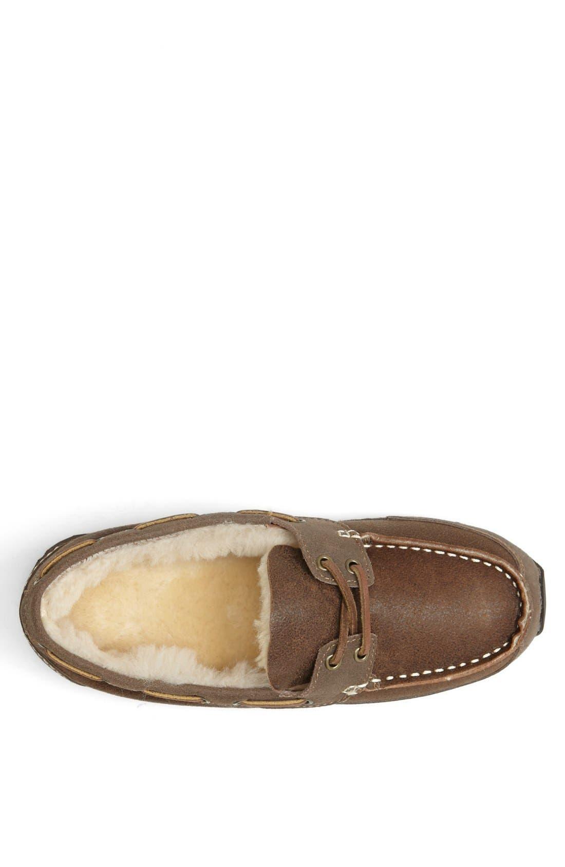 Alternate Image 3  - Acorn Lace Up Genuine Sheepskin Slipper (Men)