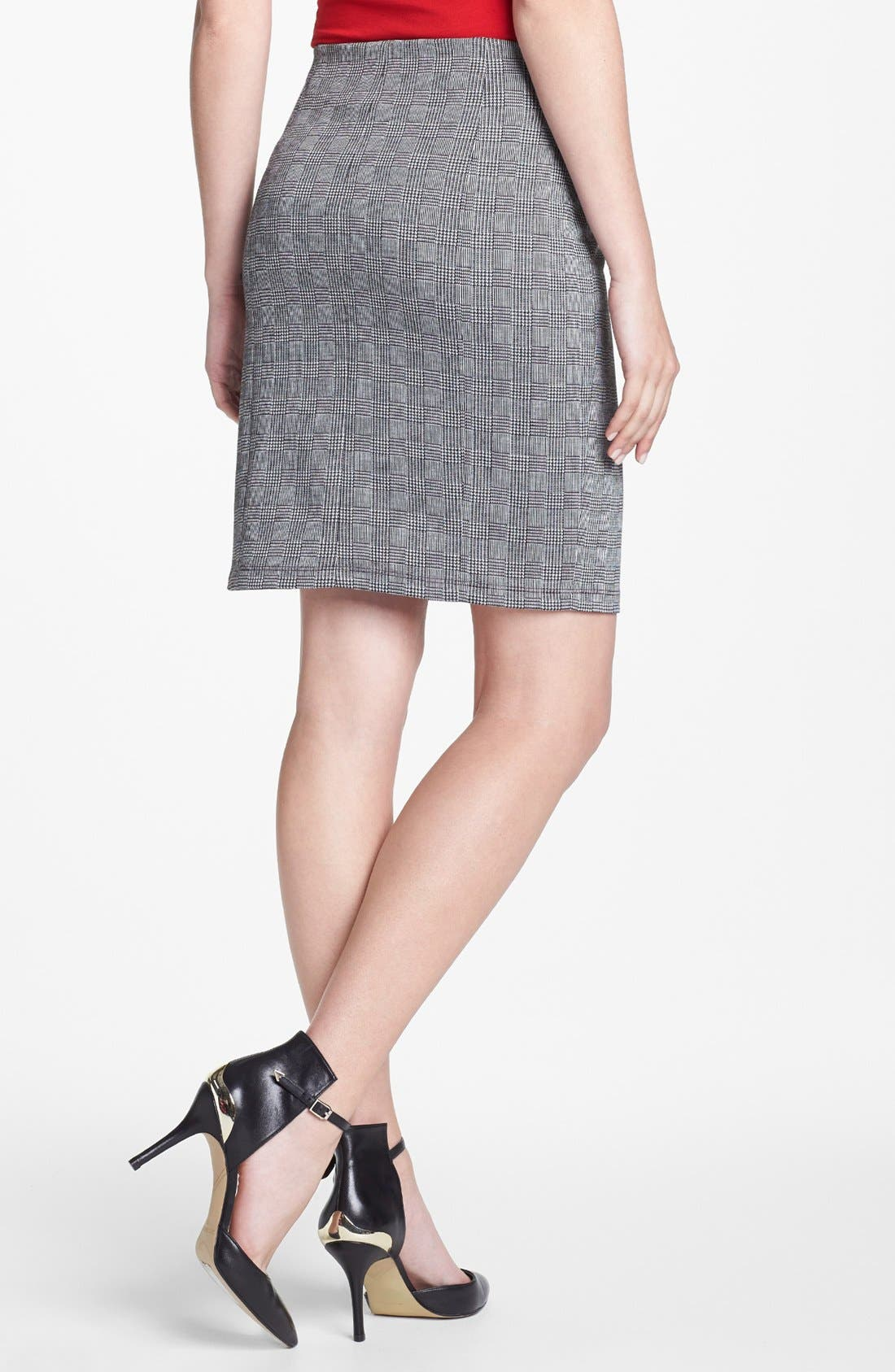Alternate Image 2  - Vince Camuto Side Zip Glen Plaid Pencil Skirt (Petite) (Nordstrom Exclusive)