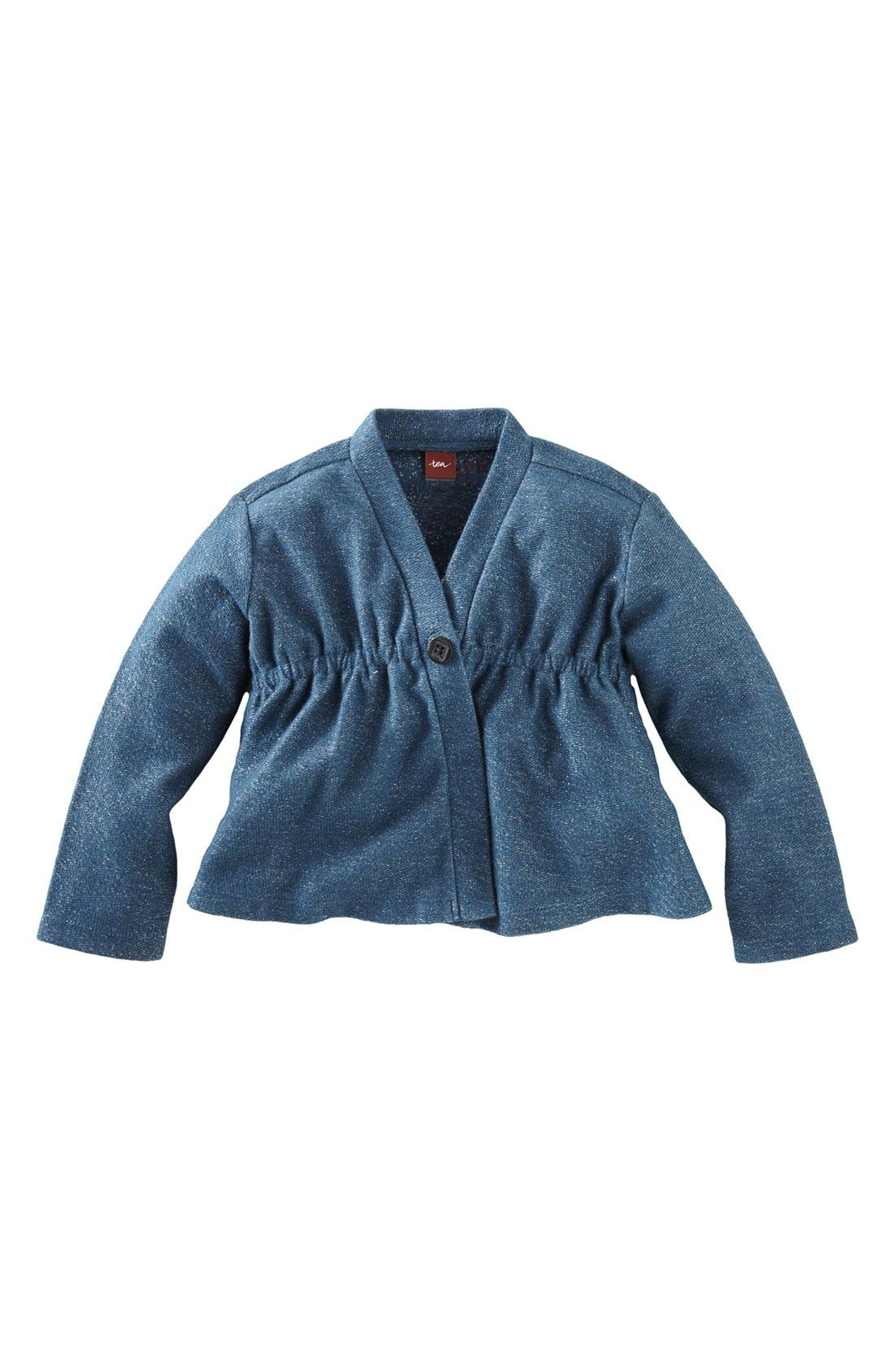 Alternate Image 1 Selected - Tea Collection Sparkly French Terry Jacket (Little Girls & Big Girls)