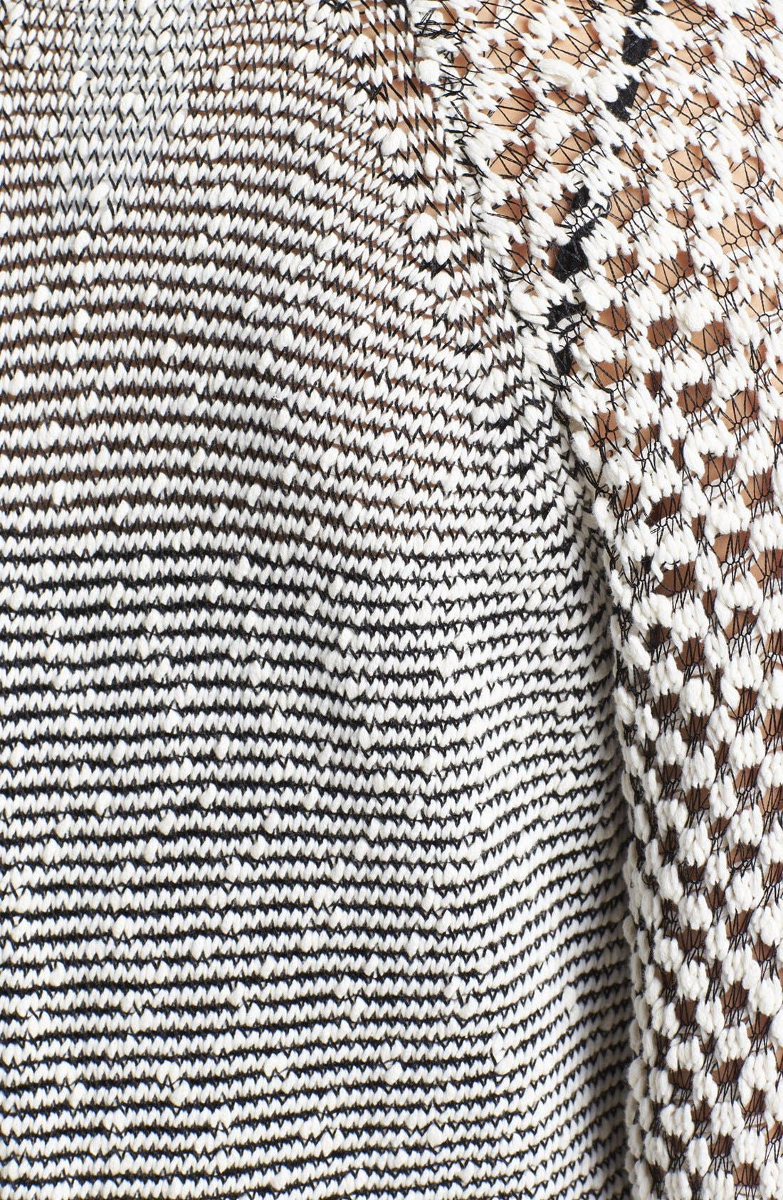 Alternate Image 3  - Two by Vince Camuto Mixed Stitch Crewneck Sweater