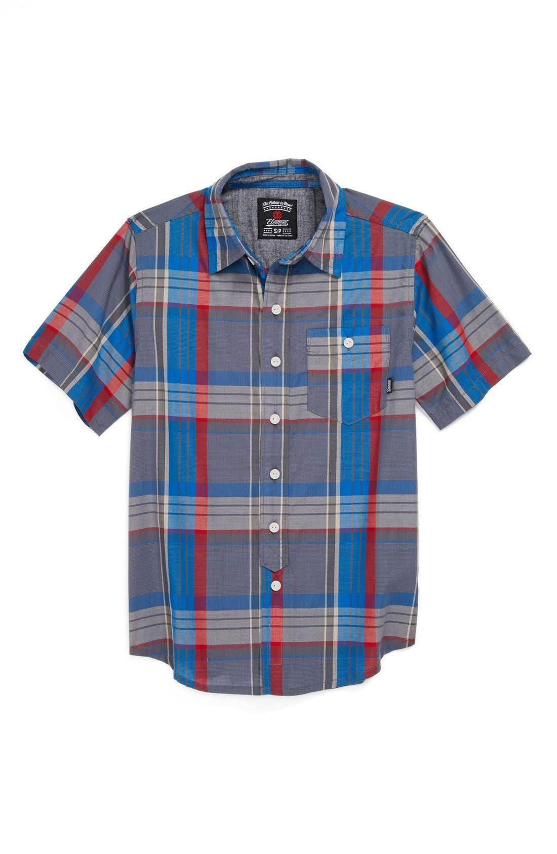 Main Image - Element 'Starsky' Woven Shirt (Big Boys)