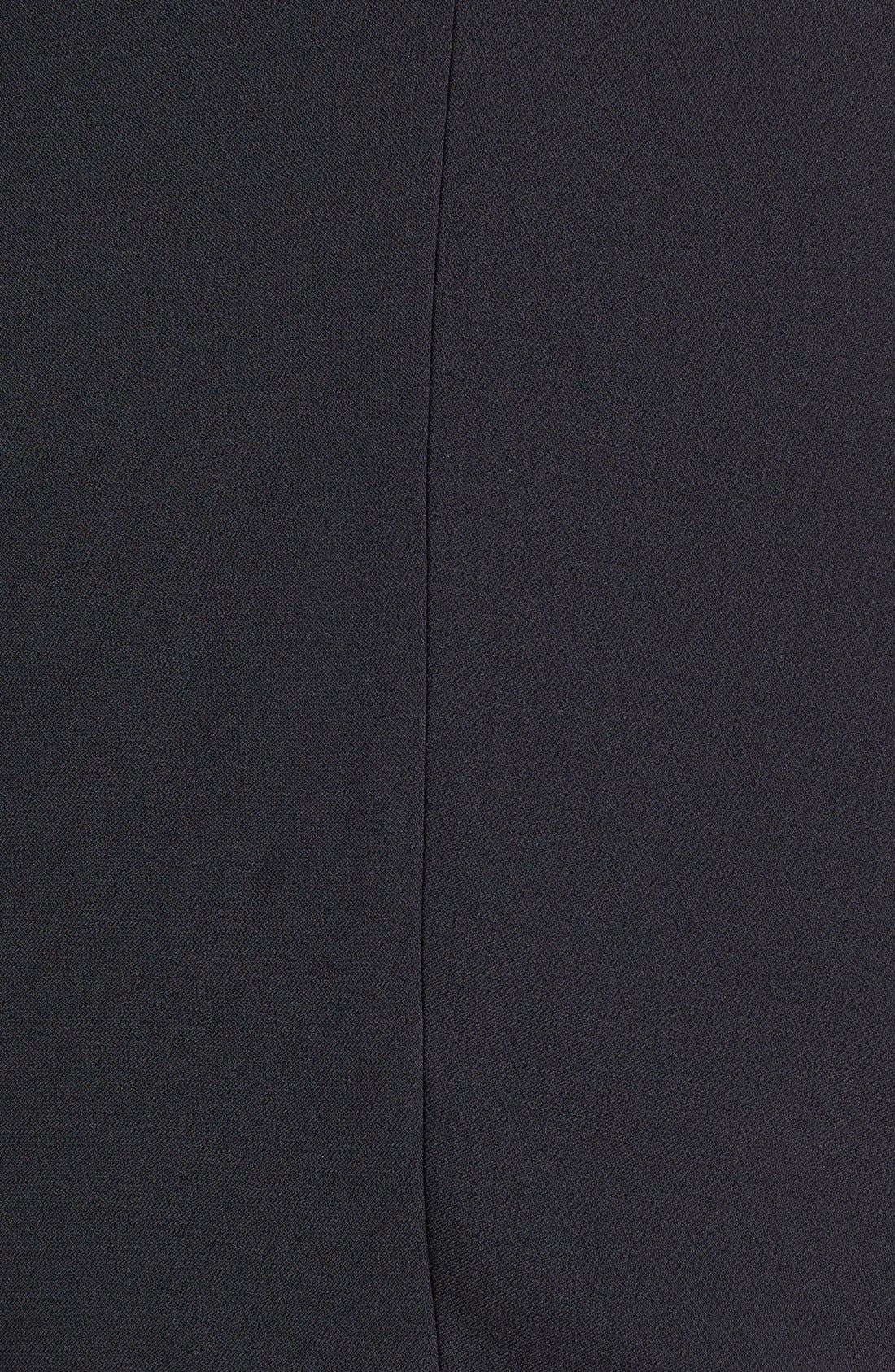 Alternate Image 3  - London Times Faux Leather Trim Crepe Dress & Jacket (Plus Size)