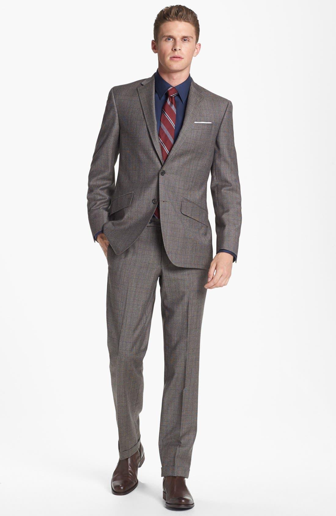 Main Image - Ted Baker London 'Jones' Trim Fit Plaid Suit